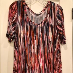 Soft & stretchy multicolored top